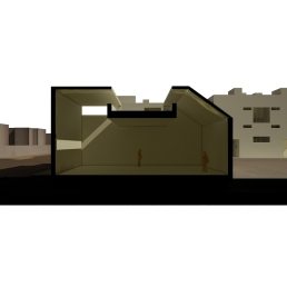 Maqueta virtual. Sección por gimnasio.