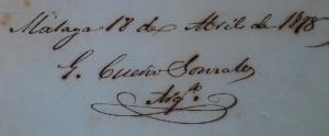 Firma de Gerónimo Cuervo González [1878]