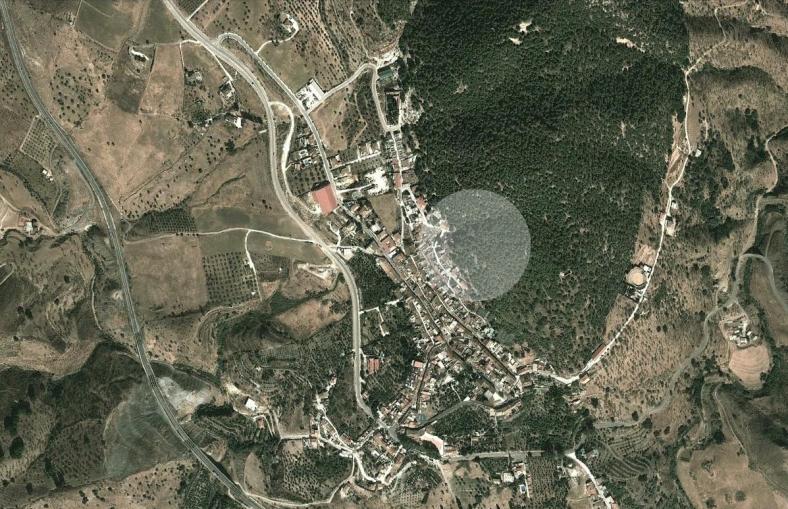 Situación en el término municipal