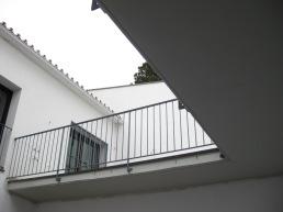 La terraza desde el patio