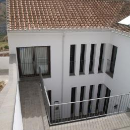 Terraza y patio de la casa