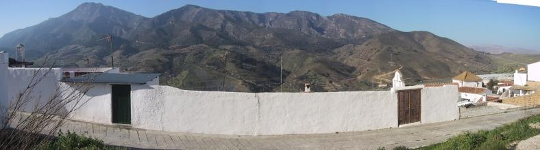 La Sierra de Alcaparaín desde el solar