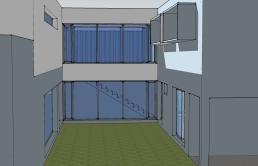 Maqueta virtual. Detalle del patio
