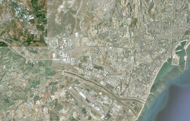 Situación término municipal. Ortofoto del Instituto de Cartografía de Andalucía