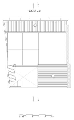 Calle Refino 21. Planta cubierta