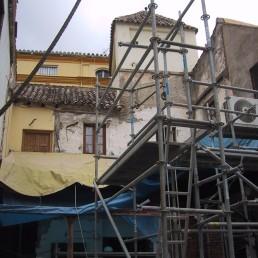 Ejecución de muro de carga en la crujía del patio [03|10|2005]