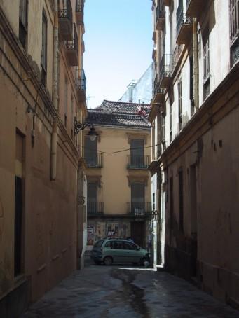 La Plaza del Teatro desde calle Alcántara