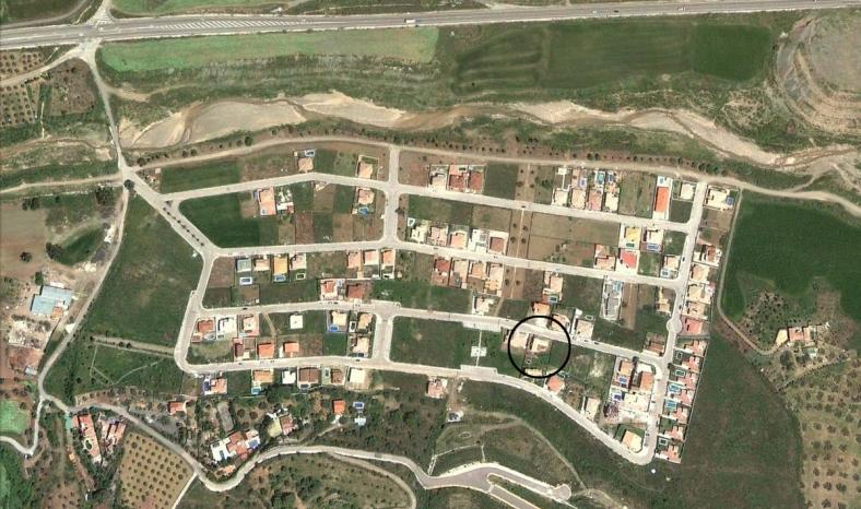 Emplazamiento de la parcela en la urbanización