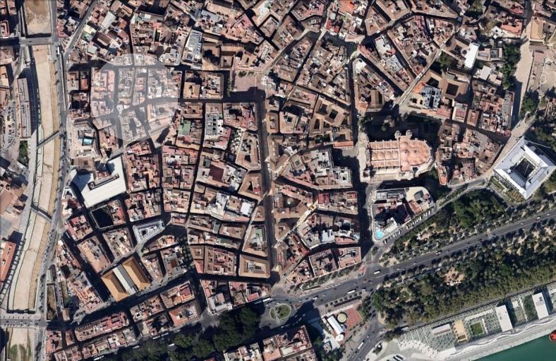Situación en el conjunto histórico de Málaga