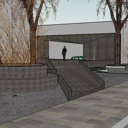 10. Vista desde calle Muro de San Julián. Maqueta virtual