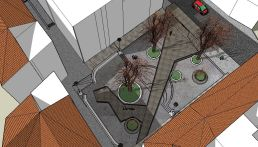 3. Vista aérea desde calle Muro de San Julián. Maqueta virtual