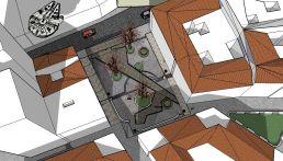 2. Vista aérea desde calle Alcántara. Maqueta virtual