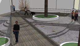 7. La pasarela de madera. Maqueta virtual