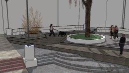 8. La pasarela mantiene su cota. Maqueta virtual