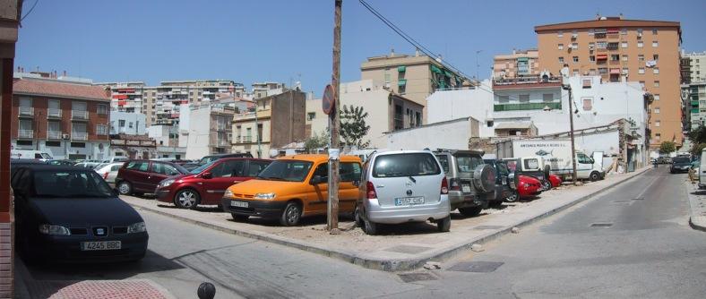 Panorámica desde calle Asalto esquina calle Lucientes