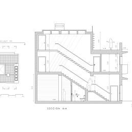 Sección AA por escalera