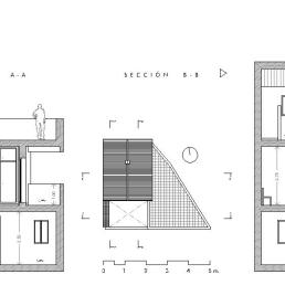 Secciones A-A + B-B. Final de obra