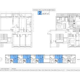 Vivienda tipo 2: cuatro dormitorios