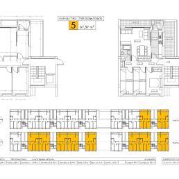 Vivienda tipo 5: tres dormitorios