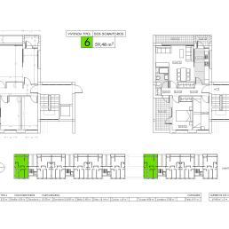Vivienda tipo 6: dos dormitorios