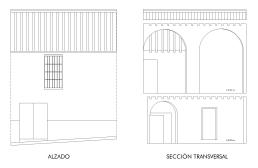 Plaza del Calvario 4. Alzado y sección transversal