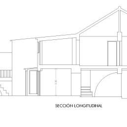 Calle Horno 7. Sección longitudinal