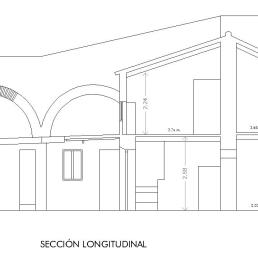 Plaza del Calvario 16. Sección longitudinal