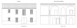 Callejón Largo 4. Alzado y sección transversal