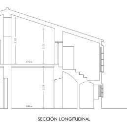 Callejón Largo 4. Sección longitudinal
