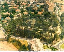 Foto aérea orientación norte. Colegio de Arquitectos