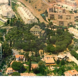 Foto aérea orientación sur. Colegio de Arquitectos