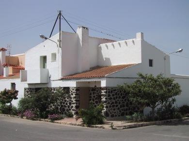 Una de las viviendas tipo del poblado de colonización