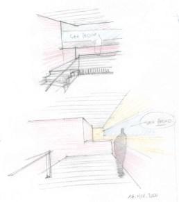Escalera, boceto