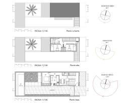 Plantas de la vivienda tipo A [3 dormitorios]