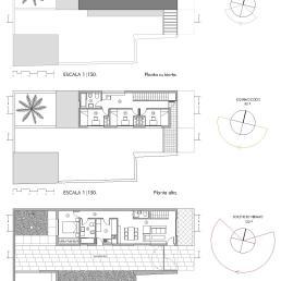 Plantas de la vivienda tipo B [4 dormitorios]